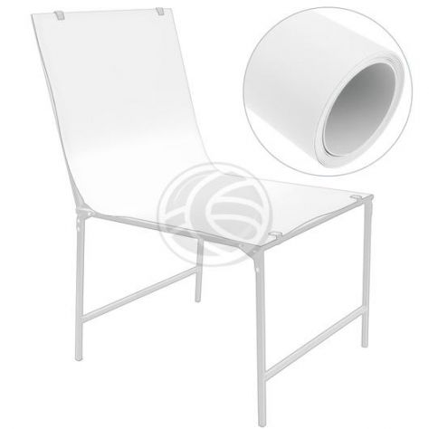 Telo PVC bianco 68x130cm per tavolo still life