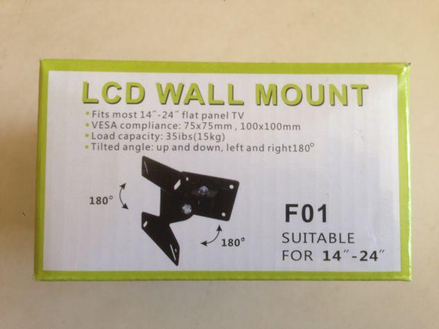 Kit staffa universale porta TV orientabile da muro 14_24 - 15€ green box