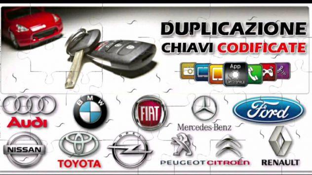 DUPLICAZIONE CHIAVI AUTO E MOTO ELETTRONICHE CODIFICATE AMPIA SCELTA