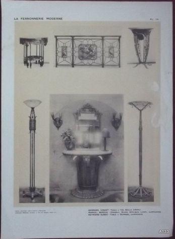 1925 CLOUZOT: LA FERRONNERIE MODERNE PORTFOLIO - Foto 2