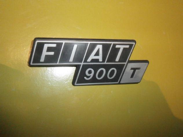 Fiat 900t furgone scritta logo targhetta posteriore NUOVA