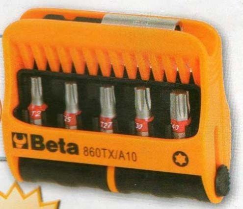 Serie di 10 inserti per viti con impronta Torx Beta 860TX-A10 - Cardelli