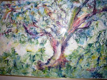 Mario Caragliu - olio su tela - albero
