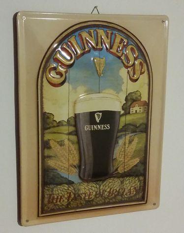 Targa in Metallo Guinness Taste of Ireland birreria e sostegno in legno nuovo