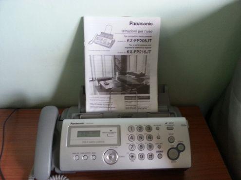Telefono-fax a carta comune