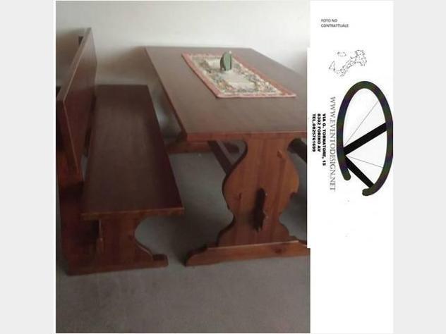 Set Panca modello PIZZERIA da 130 cm con tavolo