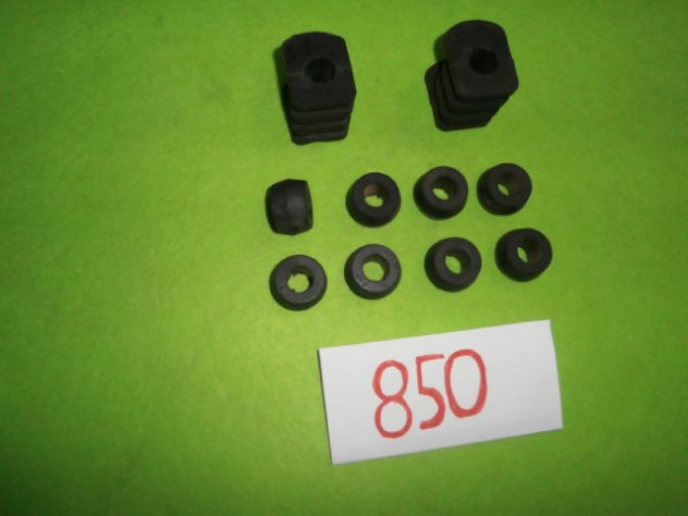 Boccole e tasselli barra stabilizzatrice Fiat 850 sport spider special NUOVI - Foto 6