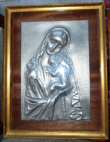 Raffigurazione sacra scultura a sbalzo vintage