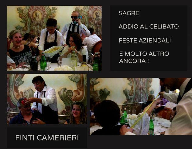 Finti cameriere artisti animazioni  matrimoni a alessandria 3478497587