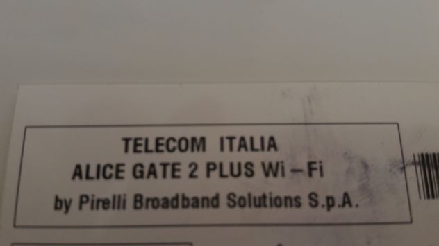 Modem Router ADSL Telecom Alice Gate 2 Plus by Pirelli - Foto 3