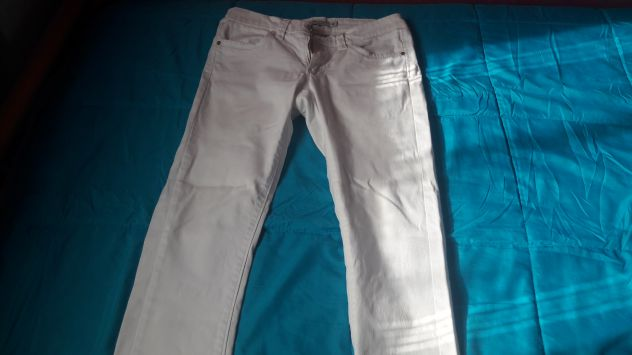 Jeans bianco Piazza Italia Tg 42