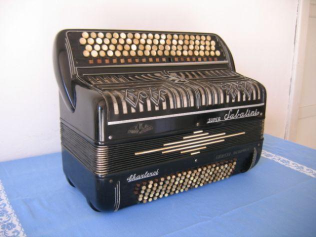 Fisarmonica SUPER SABATINI Charleroi anni '40 Marcel Debruel - F.B.A.