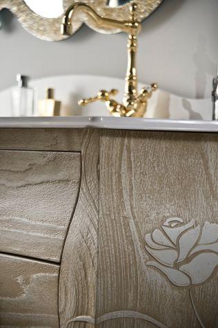 Mobile bagno stile barocco Bombato massello , Foto 3