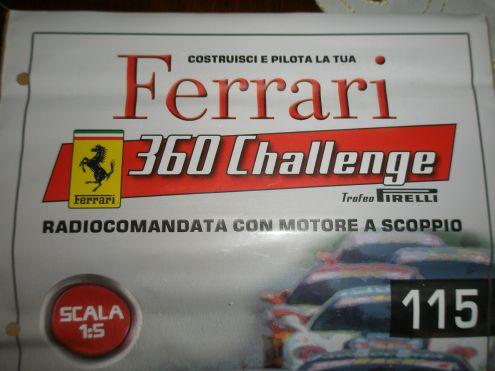 Ferrari 360 challenge scala 1:5 radiocomandata motore a scoppio