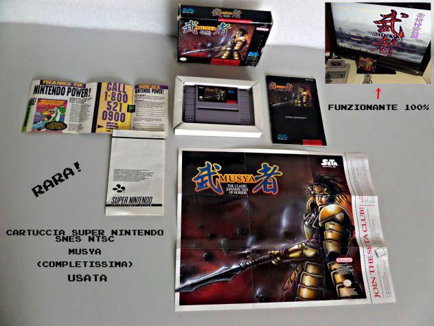 Cartuccia gioco Musya , Super Nintendo SNES NTSC (COMPLETA)