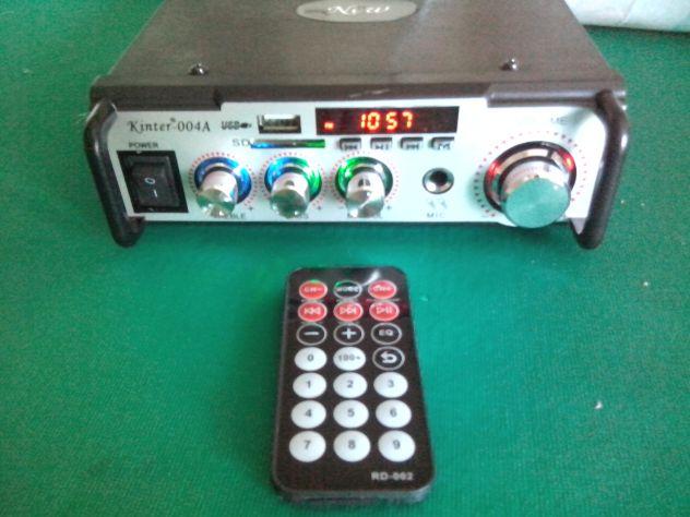 Karaoke stereo hi-fi amplificatore bluethooth multiuso 50 watt - Foto 6