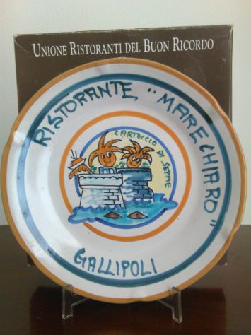 Piatto Buon Ricordo. Marechiaro Gallipoli 1996