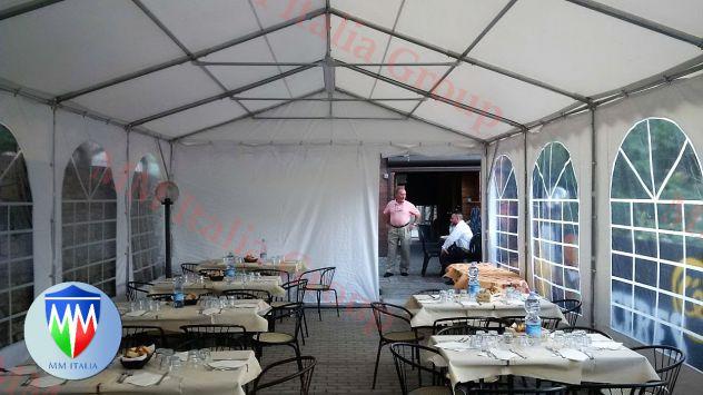 Tendoni per eventi , Bar, Ristoranti, Catering 5 x 8 x 2,6 mt. pvc 550 Ignifugo - Foto 10