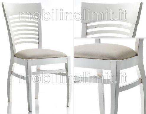 Sedia Con Fondino Tappezzata - Nuovo