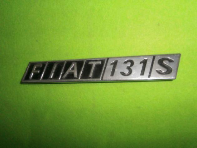 Scritta logo targhetta posteriore Fiat 131 SPECIAL in metallo