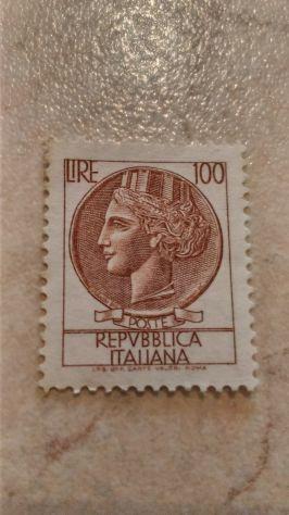 Francobollo Repubblica italiana 100 lire