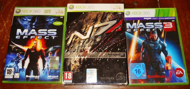 Mass effect 1 2 3 N7 trilogia trilogy xbox 360 collector's edition