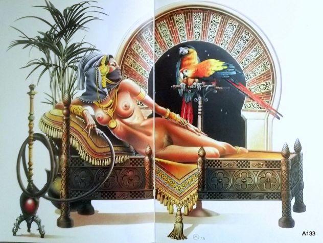 CHRIS ACHILLEOS PORTFOLIO AMAZONS 1977+LA BELLE ET LA BETE