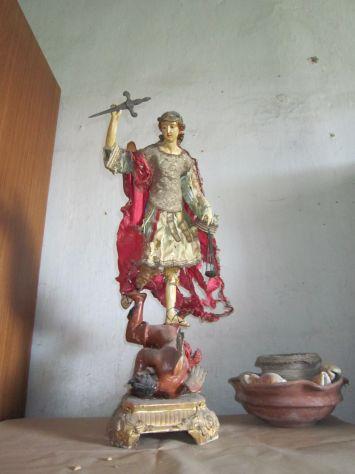 Statua ORIGINALE del 700 raffigurante S. Michele Arcangelo