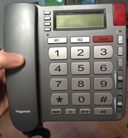 Telefono tasti grandi con filo Hagenuk