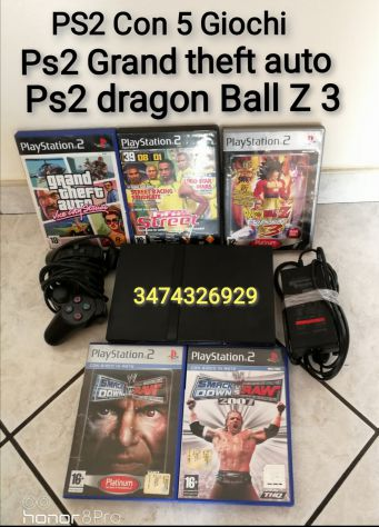 Console PS2 Slim con 5 giochi Dragon Ball Z