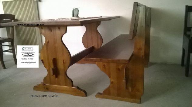 Panche sgabelli tavoli per pub pizzeria in legno massello annunci