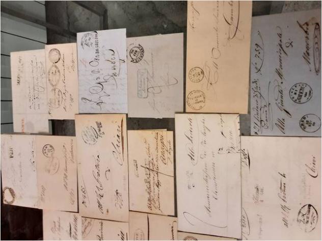 Buste e lettere con timbri