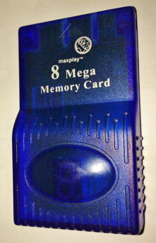 Memory card blu 8 mega/mb 120 blocchi per ps1 psx sony playstation funzionante