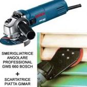 Smerigliatrice angolare professional GWS 660 Bosch e scartatrice - Cardelli