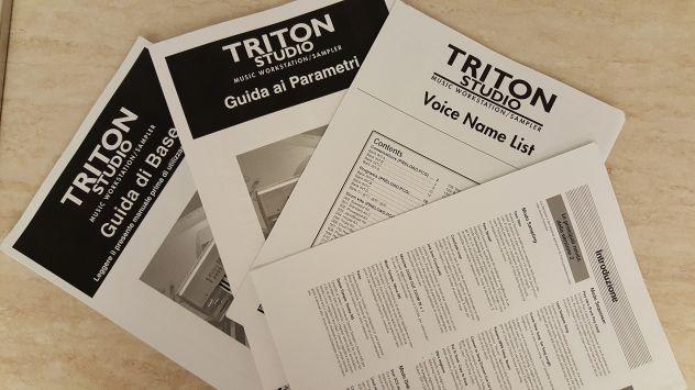 Korg manuali istruzione TRITON STUDIO