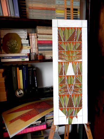 Dipinto ad olio su carta, astratto - Foto 3