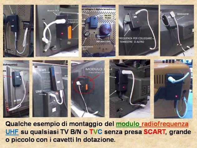 Modulo Radiofrequenza UHF per qualsiasi  televisore senza presa SCART. - Foto 4