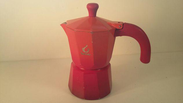 C119 caffettiera riuso Forever 4tz rossa arancio