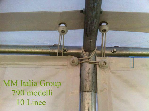 Tendoni 6 x 8   Linea Unica,inPvc Ignifugo uso Pubblico - Foto 4