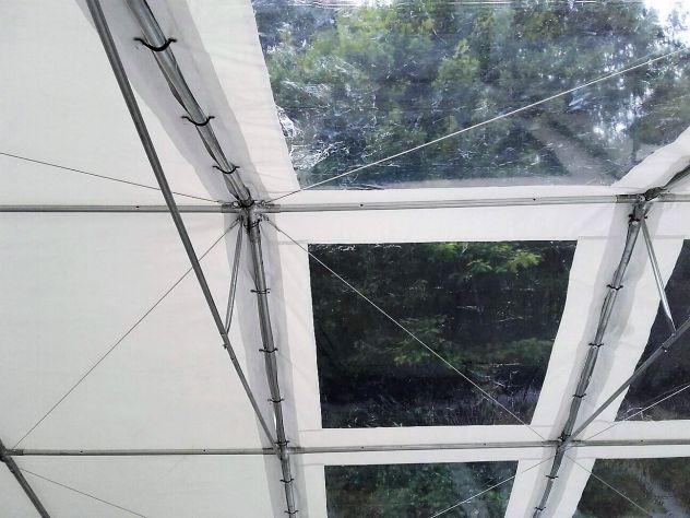 Tendoni per feste 6 x 12 velcro sistem, combisize, tetto cristal - Foto 7