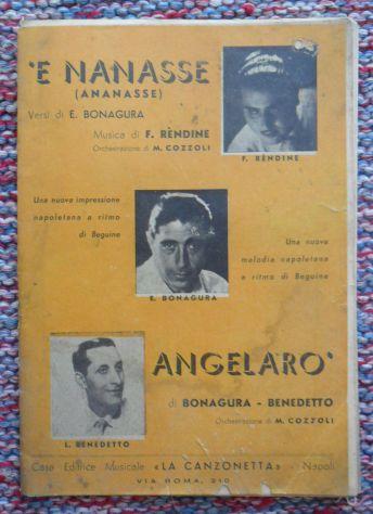 SPARTITO - 'E NANASSE E ANGELARO' -