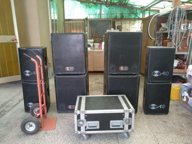 Impianto audio per esterno