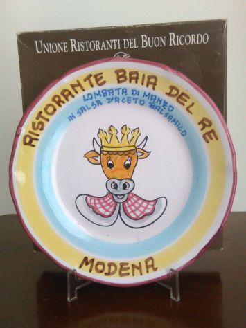 Piatto Buon Ricordo. Baia del re Modena 1996