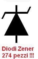 Diodi Zener assortiti 274 pezzi