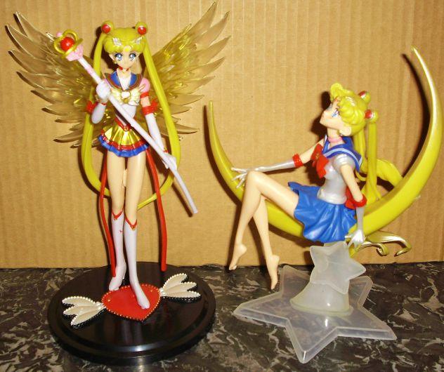 Set 2 action figure sailor moon eternal stars bandai cosplay doll bambole anime