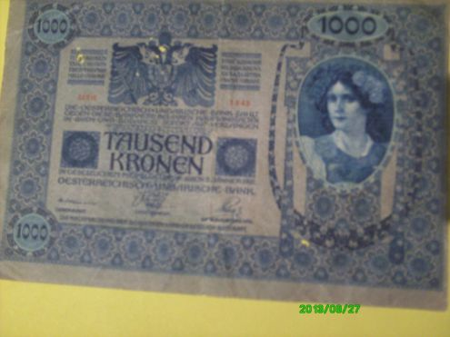 BANCONOTA 1000 CORONE 1902 IMPERO AUSTRO UNGARICO - Foto 2