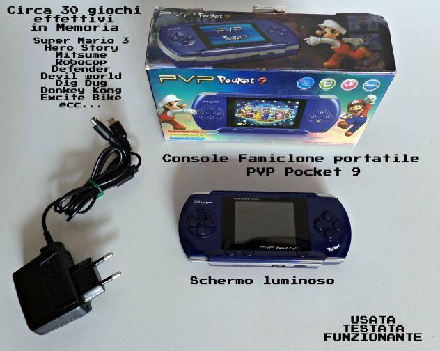 Console portatile 30 giochi retrò (super mario, ecc..) PVP Pocket 9