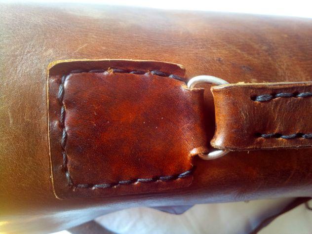 Borsa lavoro/portadocumenti in pelle antichizzata (Unisex) - Foto 7