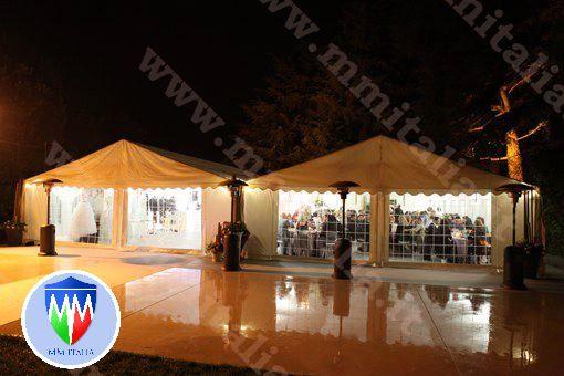 STRUTTURE IN PVC 8 X 20 X 4,4 MT. USO CERIMONIE FESTE PROFESSIONALI - Foto 7