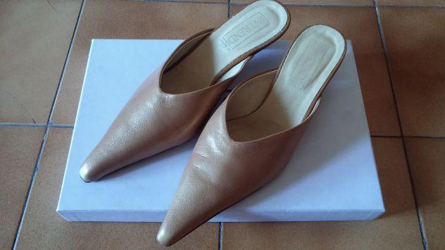 scarpe sportive 1cc5e 26427 Scarpe sabot di pelle beige nuovissime
